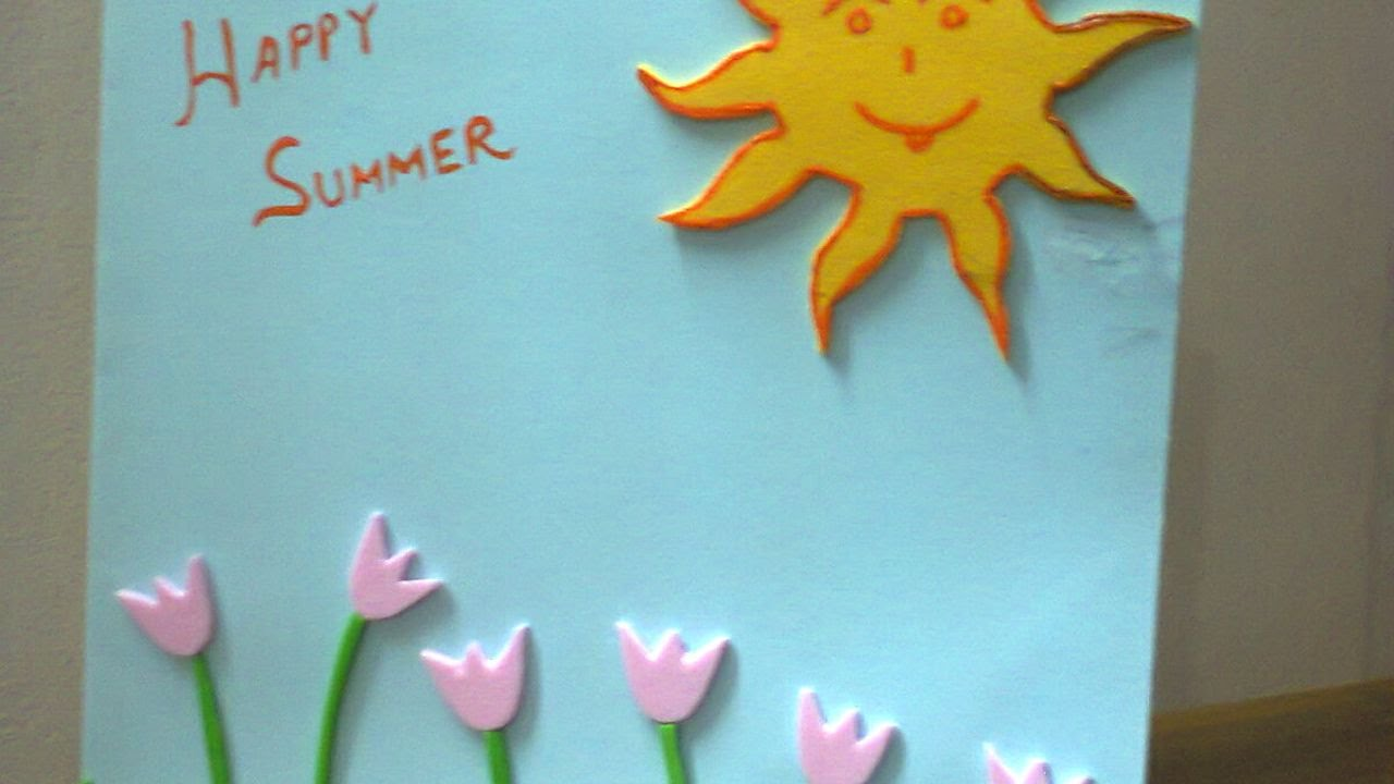 How To Create A Summer Vacation Wishes Card