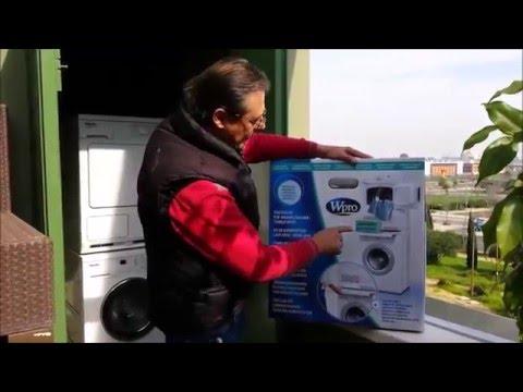 Instalaci n de kit para torre de lavadora y secadora en for Mueble para lavadora y lavavajillas