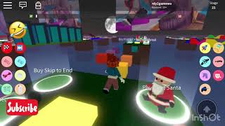 ROBLOX 1st time!!!! Unlocking Grinch Parkour!!!!