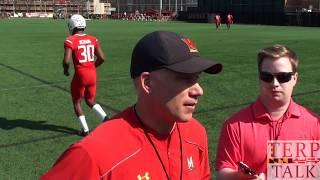 Maryland Football DJ Durkin at practice 14 Spring 2018