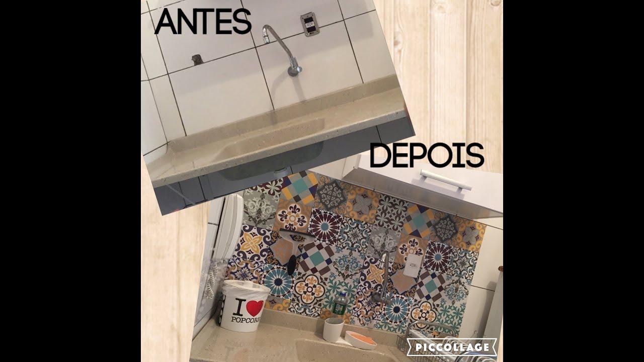 Aparador Kd Moveis ~ Adesivo de azulejo na cozinha YouTube