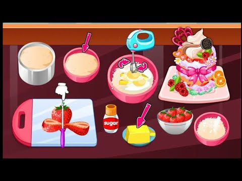 Cooking Games For Kids Cook Strawberry Cakes العاب اطفال العاب