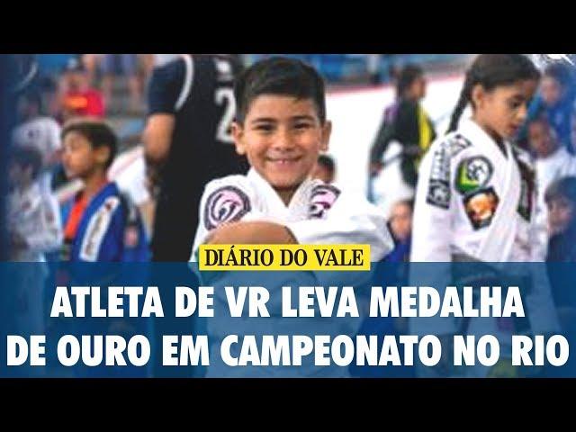 Atleta de VR leva medalha de ouro em campeonato no Rio