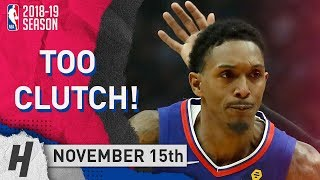 Lou Williams CLUTCH Highlights Clippers vs Spurs 2018.11.15 - 23 Pts, 2 Ast, 3 Reb, TOO CLUTCH!!