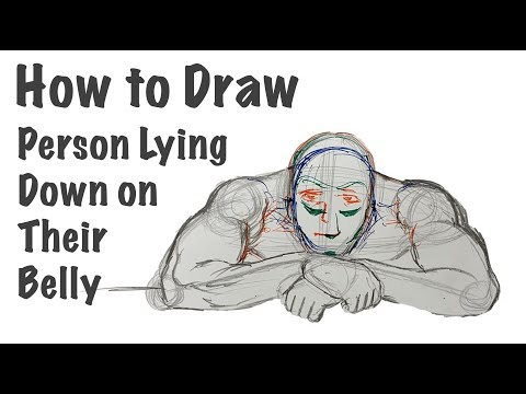 How To Draw A Person Lying Down On Their Belly