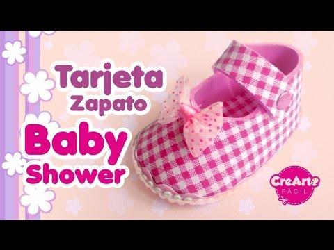 Tarjeta Baby Shower Zapato Bebe Recordatorio Fácil Diy