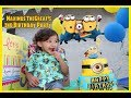 MINION BIRTHDAY FUN FOR KIDS! PARTY GAMES, MINION CAKE, AND PHOTO FRAME FUN!