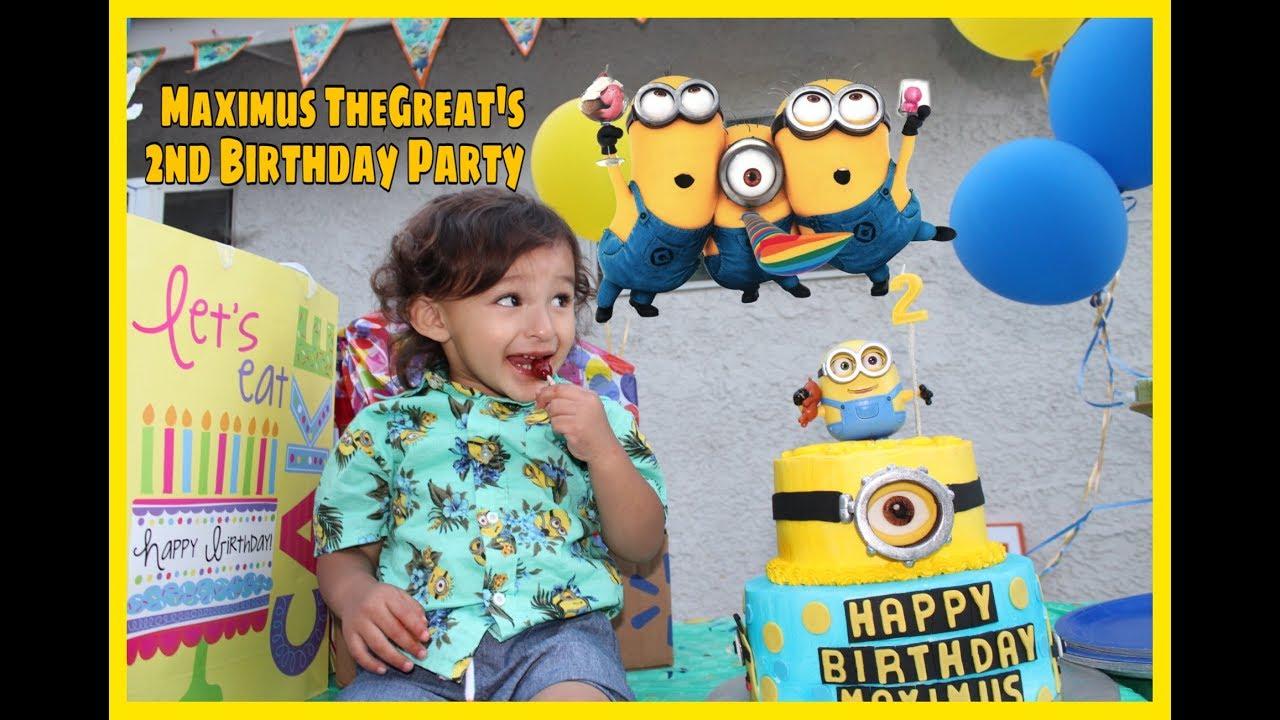 Minion Birthday Fun For Kids Party Games Minion Cake And Photo Frame Fun Youtube