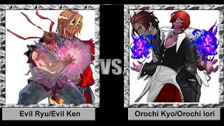 Mugen 1.1 - Evil Ken/Evil Ryu vs. Orochi Kyo/Orochi Iori