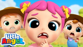 Oh No, My Tooth is Loose! | Wobbly Tooth Song | Little Angel Kids Songs & Nursery Rhymes