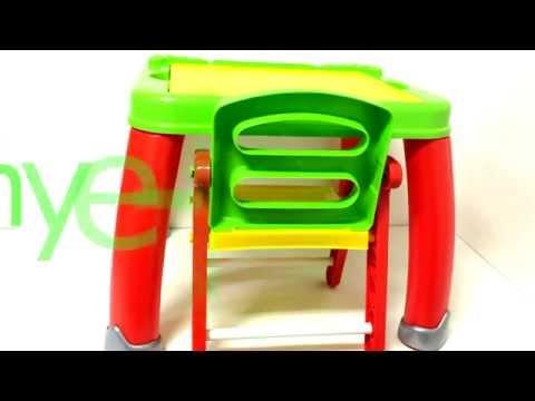 Детский пластиковый стол и стул Дошкольник   Артикул 43023