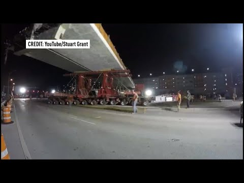 Time lapse of FIU bridge installation