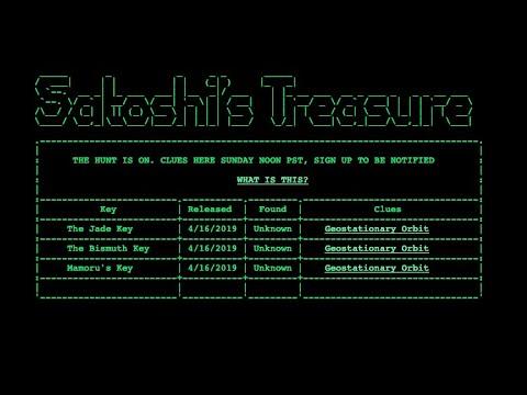 Satoshi's Treasure Hunt $1mil BTC Value.