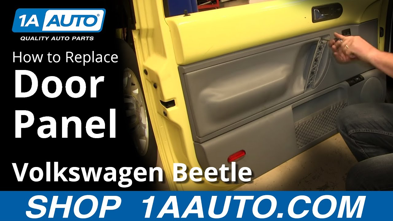 How To Install Replace Door Panel 1998 10 Vw Volkwagen Beetle Youtube 2003 Fuse Block Wiring Harness