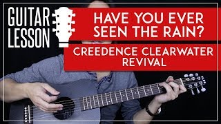 Have You Ever Seen The Rain Acoustic Guitar Tutorial 🎸Creedence Clearwater Revival Guitar Lesson