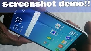 Samsung Galaxy S6/ S6 Edge How To Take A Screen Shot Demo!!