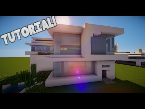 Minecraft como hacer una casa moderna tutorial de for Tutorial casa moderna grande minecraft