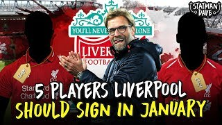5 Players Liverpool Should Sign - In the January Transfer Window!