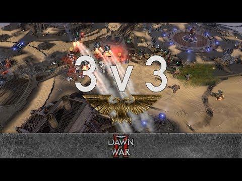 Dawn Of War 2 - 3v3   Syn + Faffywaffle + MiltonLA420 [vs] Katla + Olaf-hain + Aponnk