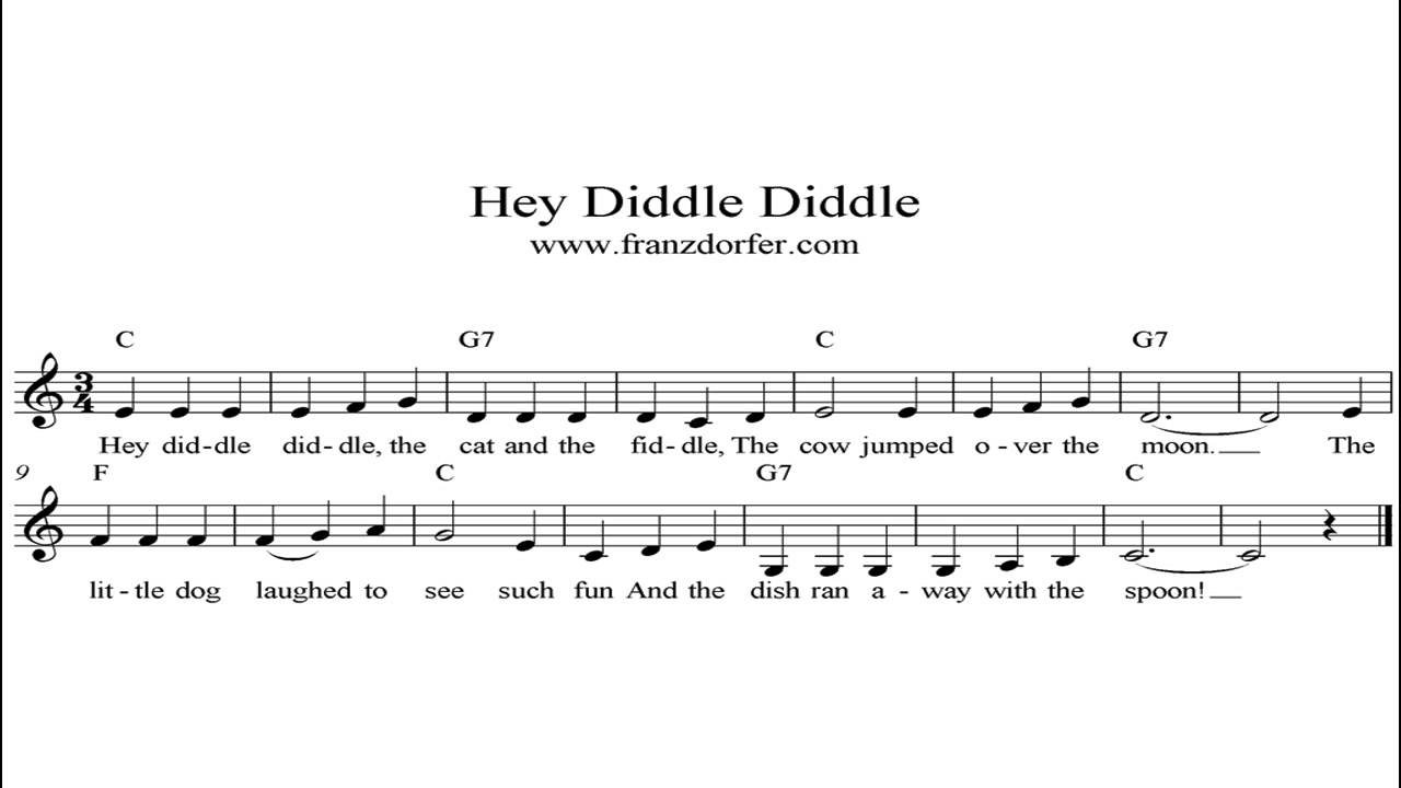 Hey Diddle Diddle Instrumental Youtube