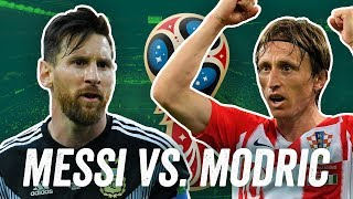 Messi vs. modric! argentinien vs. kroatien! barcelona vs. real madrid! onefootball face-off