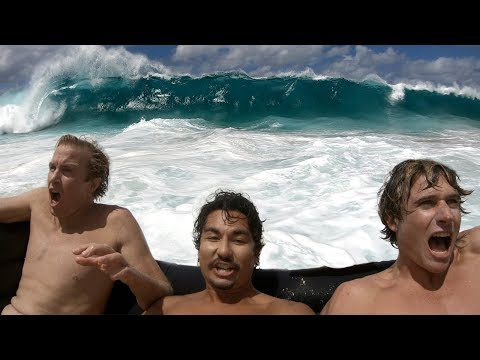 Couch Surfing Giant Shorebreak | Jamie O'Brien