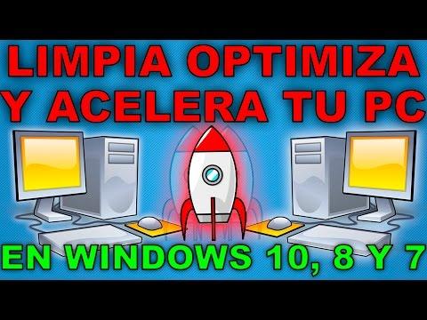 Como limpiar, optimizar y acelerar mi pc sin programas para windows 10,8,7