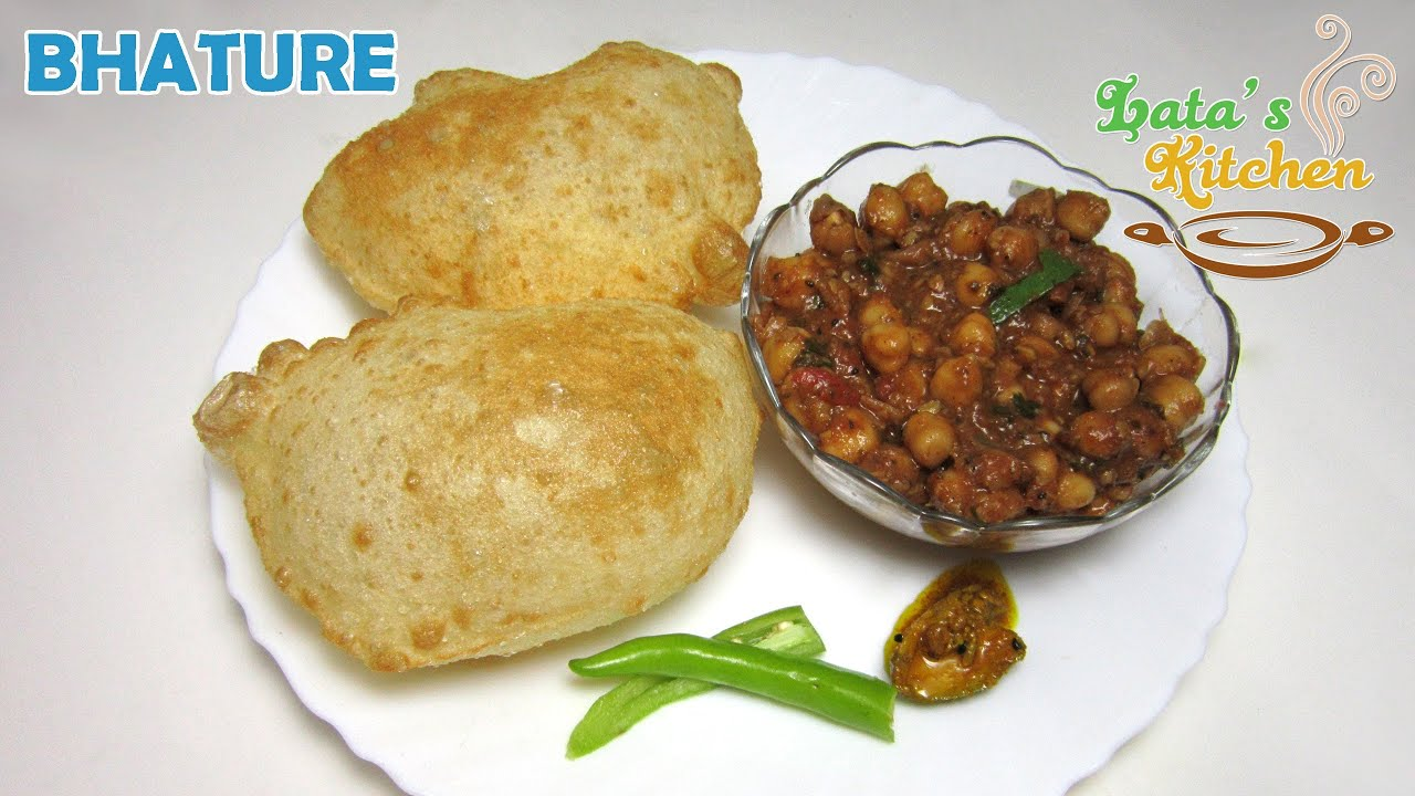Chole bhature recipe bhatura recipe video in hindi with english chole bhature recipe bhatura recipe video in hindi with english subtitles latas kitchen youtube forumfinder Choice Image