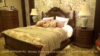 Видео обзор: Классическая Кровать Монтана B, натуральная кожа, массив дерева