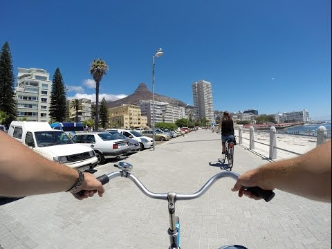 Morning cycle on the Sea Point promenade, Cape Town, Up Cycles, GoPro Hero 3+