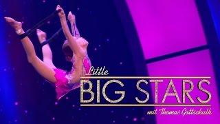 Eindrucksvolle Akrobatik in der Luft (Teresa)   Little Big Stars mit Thomas Gottschalk   SAT.1