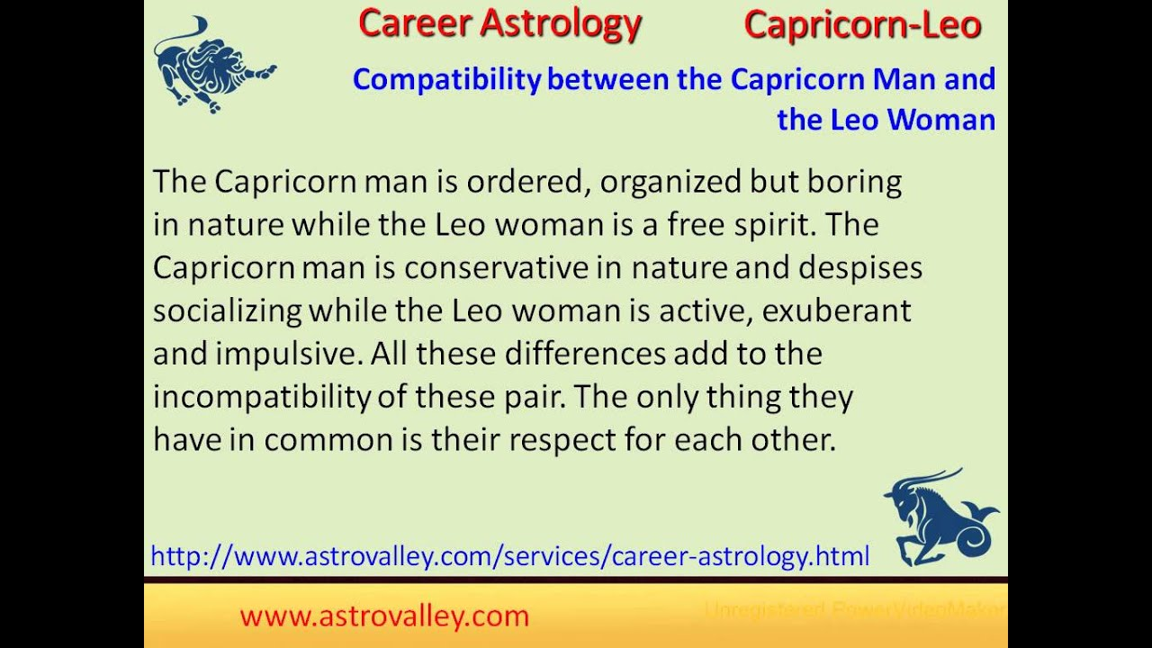Leo Capricorn Male Relationship And Woman