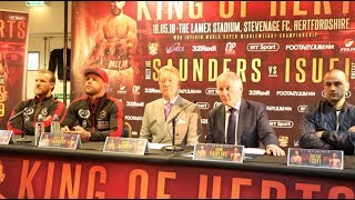 BILLY JOE SAUNDERS v SHEFAT ISUFI - *FULL & UNCUT* PRESS CONFERENCE @ LAMEX STADIUM, STEVENAGE