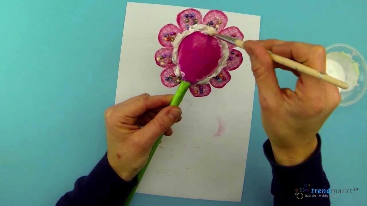 Bastelideen Fruhling Anleitung Blume Basteln Als Dekoblume Youtube
