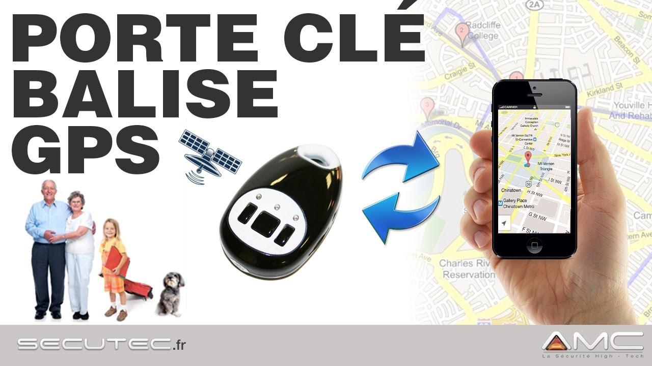PORTECLÉS BALISE GPS GSM TEMPS RÉEL ET TÉLÉPHONE DURGENCE SECUTEC - Porte clé traceur