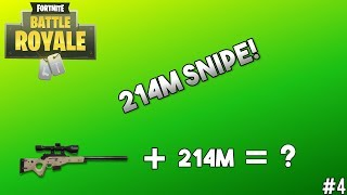 UNREAL 214m SNIPE! OBTENIR LA VICTOIRE SOLO LA PLUS FOLLE! - Fortnite Epic Gameplay #4