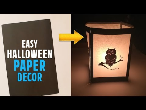 DIY HALLOWEEN Decoration | Halloween Paper Craft Ideas | craftsbox