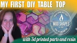 My First DIY Table Top Out of Resin, Wood, & 3d Printed Parts.