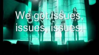 The Saturdays-Issues (Karaoke/Instrumental with lyrics)