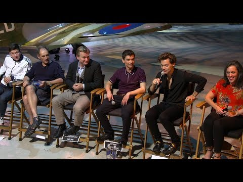 Dunkirk Press Conference - Harry Styles, Christopher Nolan