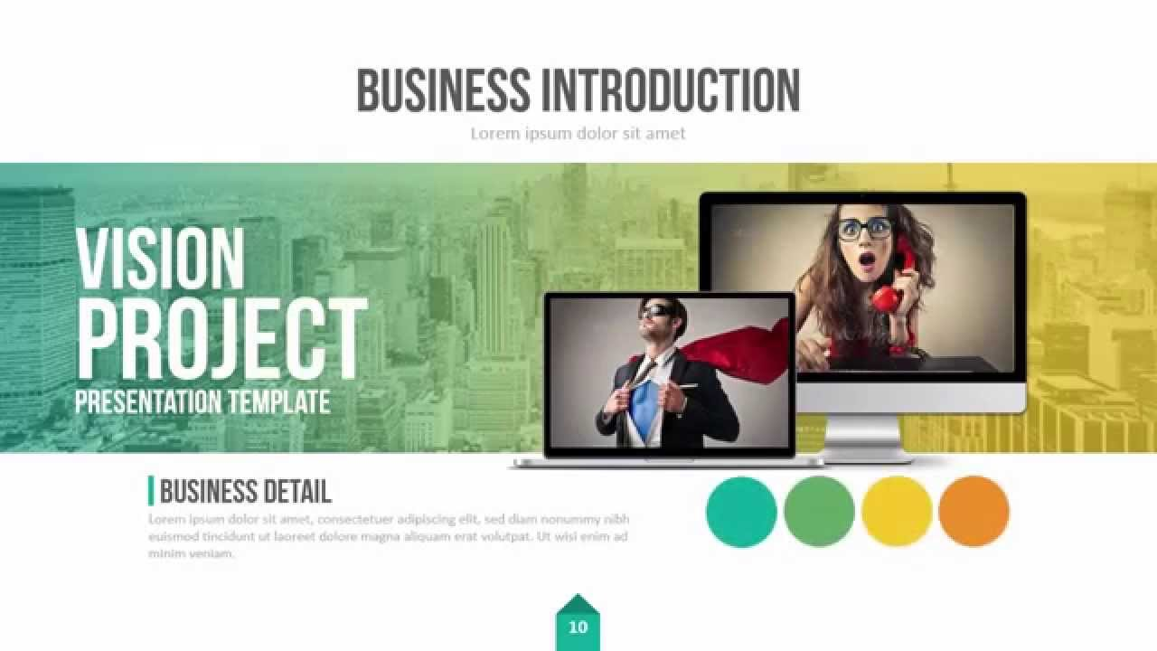 Vision Project Presentation Template YouTube – Project Presentation