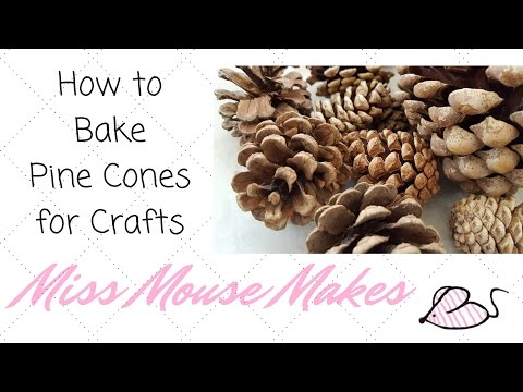 How to Bake Pinecones to Use Them for Crafts