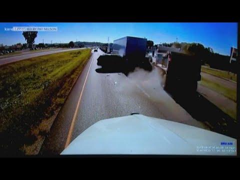 Driver who captured video of horrific dump truck crash speaks up