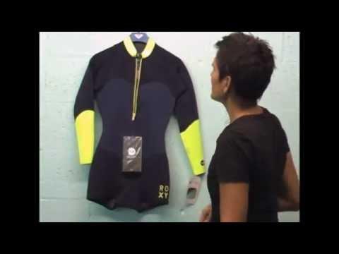 Roxy XY 2mm Long Sleeve Womens Springsuit Front Zip Blue Yellow. Pleasure  Sports 11c6bafaa
