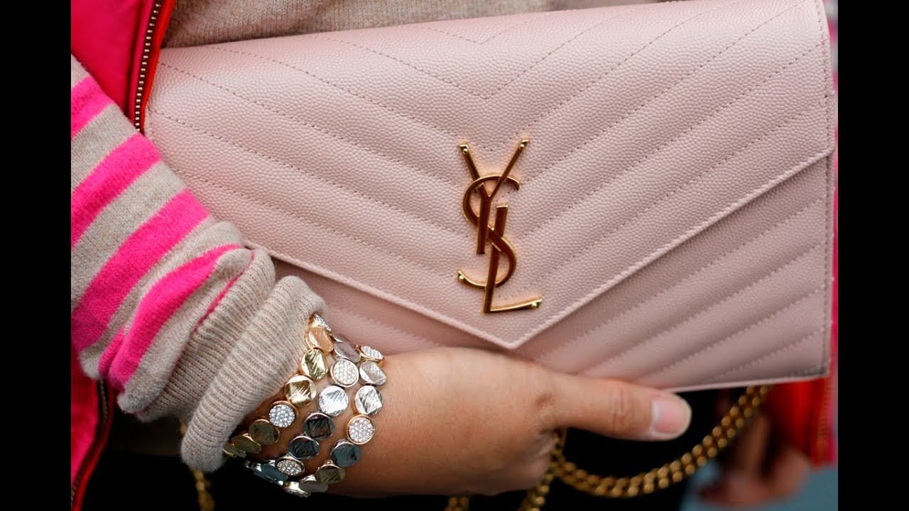 Ysl Wallet On A Chain Ysl Beige Patent Clutch