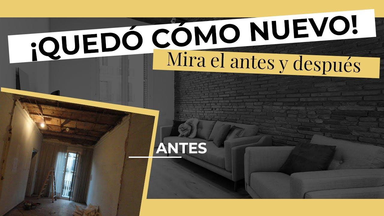 Reforma integral de un piso de 60m2 con cocina abierta en barcelona youtube - Precio reforma fontaneria piso ...