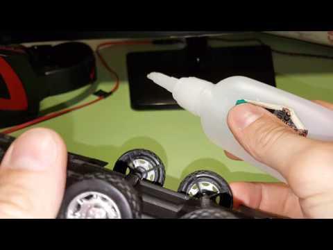 Ремонт колеса детский машины, клей Akfix 705