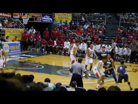 HI State Boys Basketball - Kahuku vs Punahou - 1st Half  2-17-17 | click2ED videos