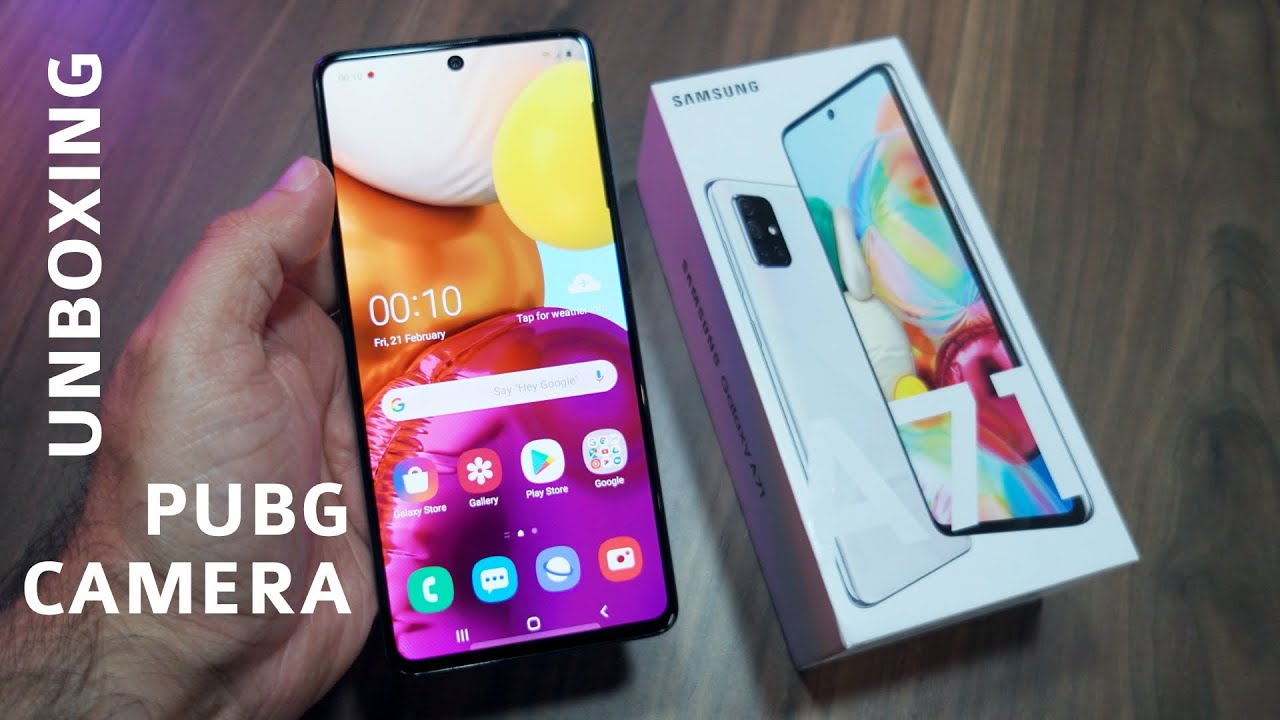 Samsung Galaxy A71 Unboxing, PUBG Gameplay, Camera Samples