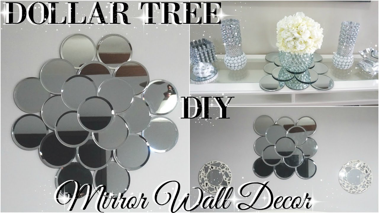 Diy dollar tree mirror wall art diy dollar store glam for How to make mirror wall decor